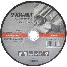 Круг отрезной по металлу 180х1.6х22.2мм (10/40) 1940231 SIGMA