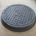 Люк круг Большой Тяжелый черный (12,5т) 770*90/630