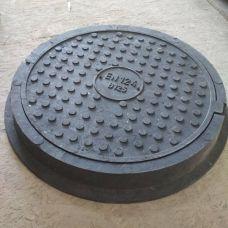 Люк круг Большой Тяжелый черный (12,5т) 770*90/630/570