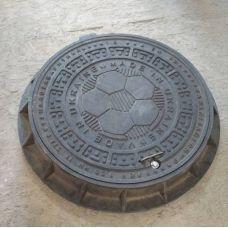 Люк круг Канализационный Малогабаритный с замком (1,5т) 690*120/565