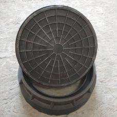 Люк смотровой круг d315 зеленый 350*127/320