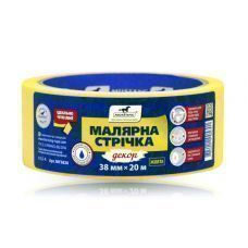 Лента малярная 48мм 20м MUSTANG Жёлтая Декор (1/72) MY4820