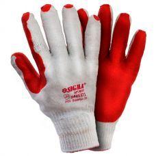 Перчатки стекольщика двойное латексное покрытие р10 (манжет) 9445371