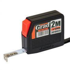 Рулетка с автостопом 3м*13мм (черная) Grad (1/12) 3816035