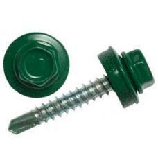 Саморез по металлу кровельный зелёный 4,8х19 (250шт) RAL 6005
