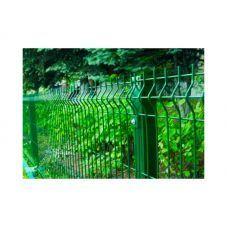 Сетка ограждение зелёная Секция d=4+3мм 50х200мм, 2,5м H 1.7м