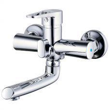 Cмеситель HK d35 для ванны гусак прямой 150мм див встр картриджный Aquatica HK-2C130C
